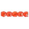Fire Polished 6mm Transparent Orange